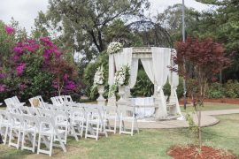 Beautiful simple + elegant outdoor wedding under the Chateau in the garden | itakeyou.co.uk - garden wedding ,outdoor wedding ,blush wedding