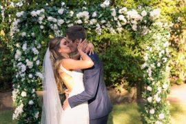 Beautiful garden styled wedding   itakeyou.co.uk #gardenwedding #sophiatolli #weddingdress #outdoorwedding #weddingceremony
