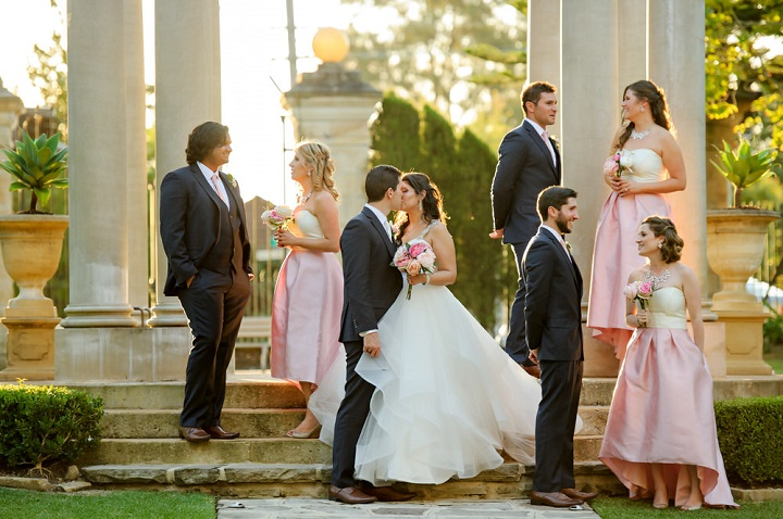 Fairytale Tuscan Inspired Wedding | itakeyou.co.uk #wedding #fairytalewedding #tuscaninspired #pinkwedding #femininewedding #weddingparty #bridesmaids