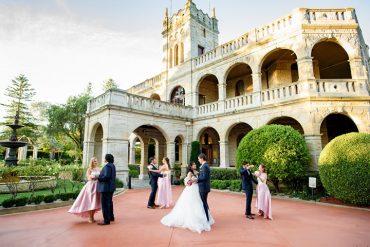 Fairytale Tuscan Inspired Wedding | itakeyou.co.uk #wedding #fairytalewedding #tuscaninspired #pinkwedding #femininewedding #weddingparty #bridesmaids