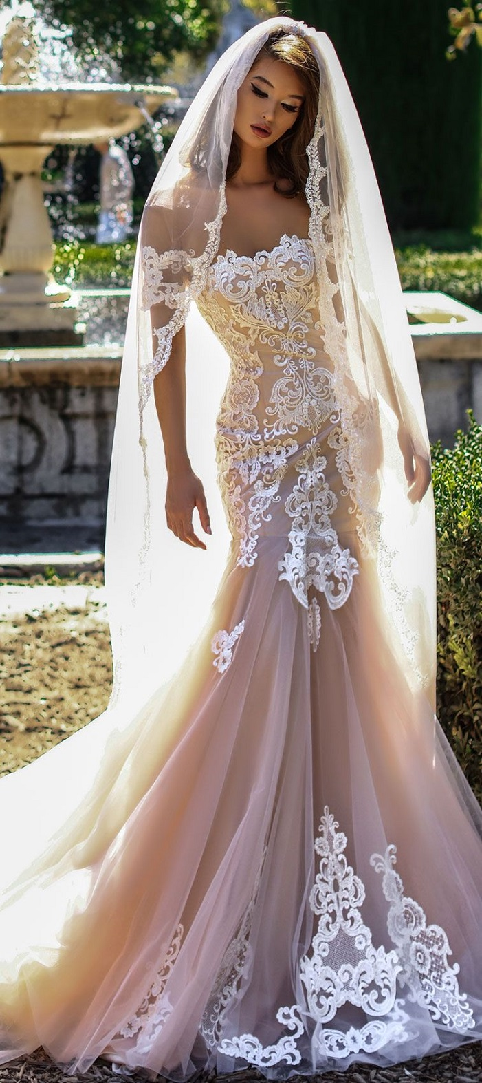 Beautiful wedding dresses would look glamorous on all sorts of beautiful mermaid wedding dresses full embellishment short sleeves chapel train weddingdress laceweddingdress weddinggown junglespirit Images