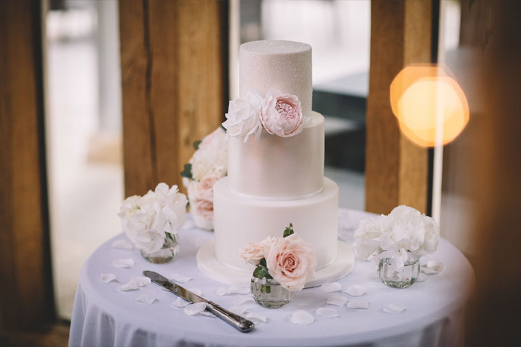 Romantic,relaxed and fun wedding,featuring a vintage Land Rover and the bride wore Rosa Clara wedding dress..elegant mix of ivory, blush, creams & greenery
