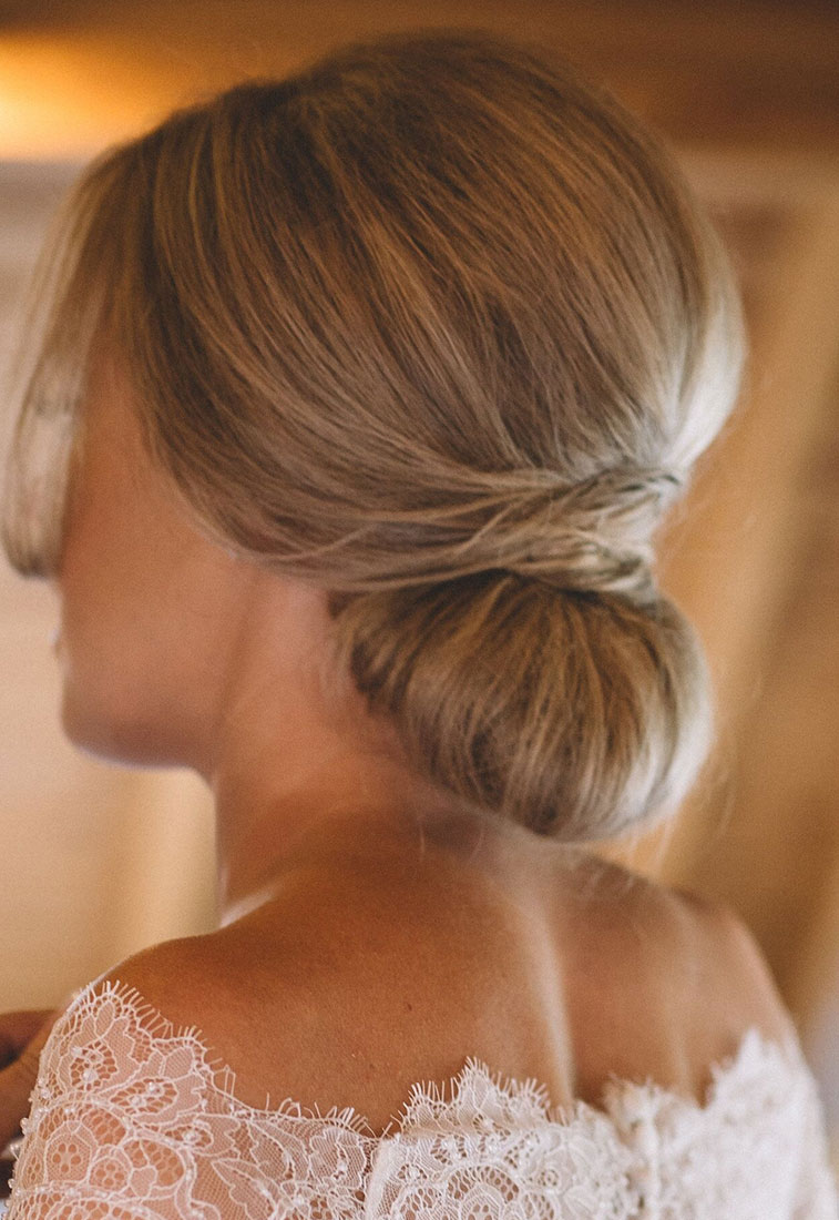 The perfect low updo for laid back bride - relaxed and fun wedding #wedding, wedding hairstyle