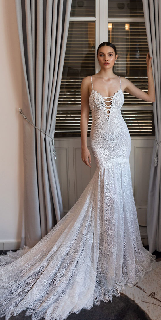 Julie Vino 2020 wedding dresses - spaghetti straps sexy mermaid wedding dress , wedding dresses , wedding gown #wedding