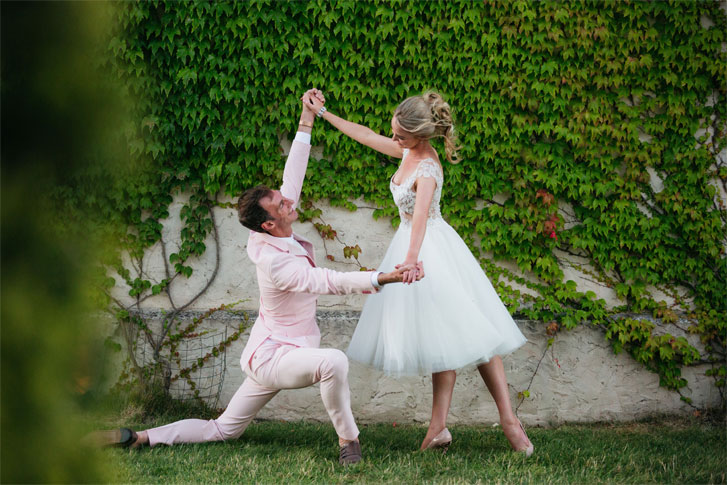 Ballet wedding dancing into the night with romantic colour palette { Rose Pink & Rose Gold }