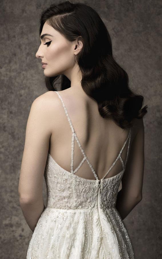Enaura 2019 Wedding Dresses - Fully beaded A-line gown with sweetheart neckline #wedding #weddinggown bride dress