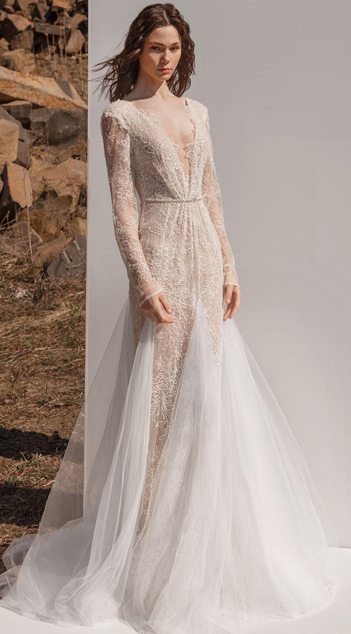 Long sleeve wedding dress, Eva Lendel , wedding gown , wedding dresses, Eva lendel bridal 2019 #wedding #weddingdresses