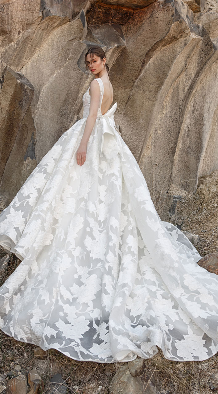 Sleeveless v neck ball gown wedding dress with bow details - wedding dress, Eva Lendel , wedding gown , wedding dresses, Eva lendel bridal 2019 #wedding #weddingdresses