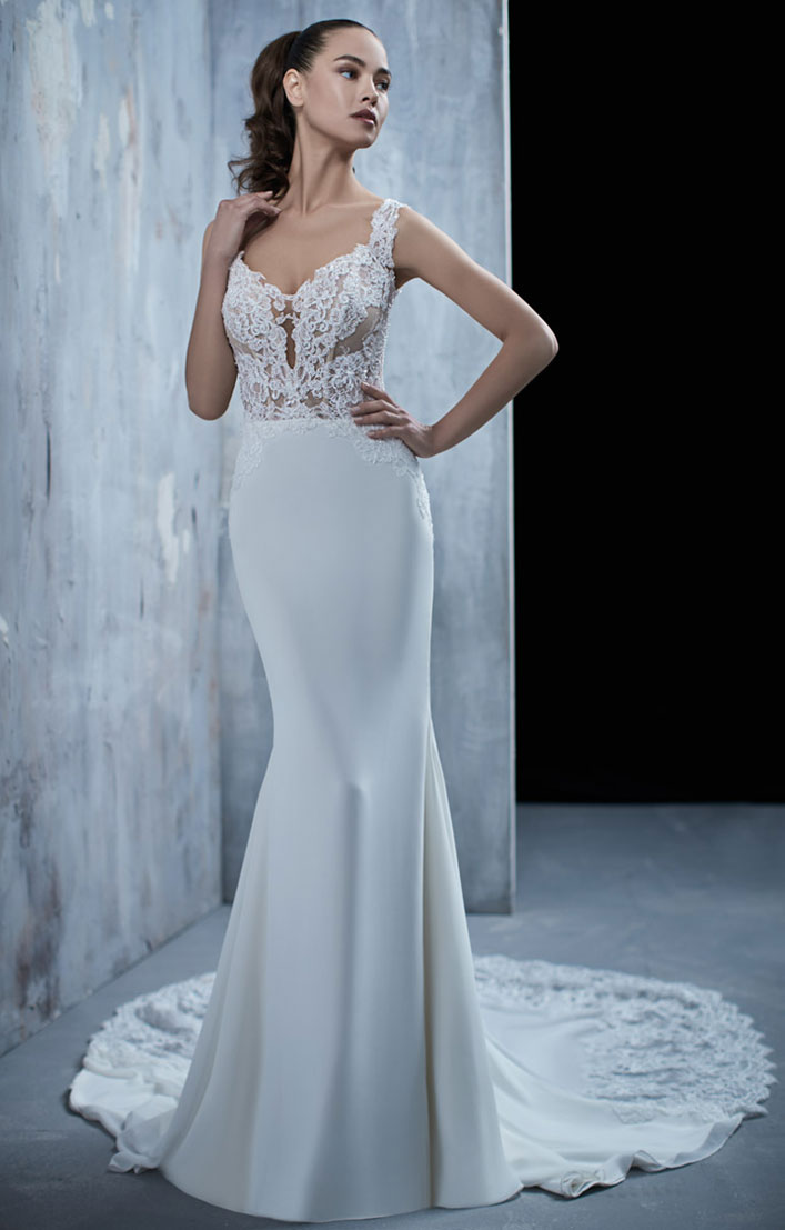 Beautiful sleeveless mermaid wedding gown for Diva bride - Maison Signore Wedding Dresses #weddingdress #weddinggown #wedding #bridedress, bride dress, wedding dress