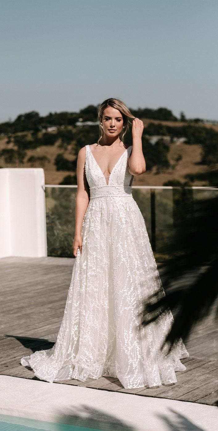 "Sleeveless a line wedding dress - Jane Hill Bridal ""Moroccan Rose 19"" Wedding Dresses #weddinggown #wedding #bridedress #dreamyweddinggown"
