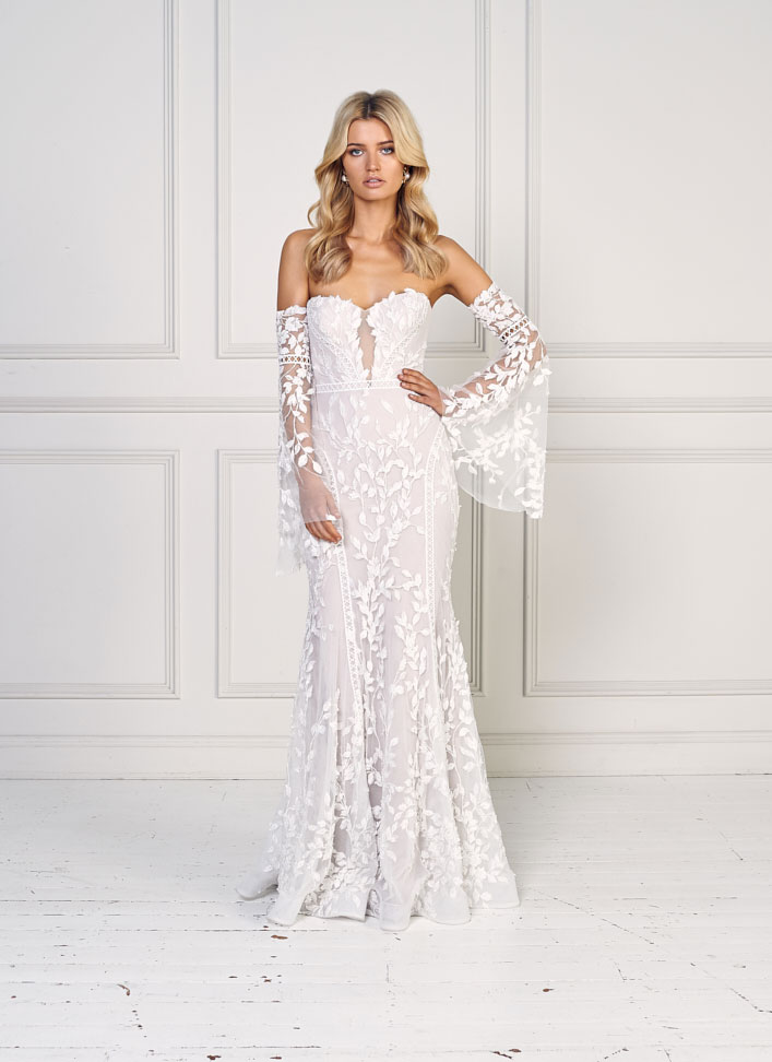 "Sweetheart neckline fit and flare wedding gown with flutter sleeves - Jane Hill Bridal ""Moroccan Rose 19"" Wedding Dresses #weddingdress  wedding dress, bridal dress ,bride dress #weddinggown"