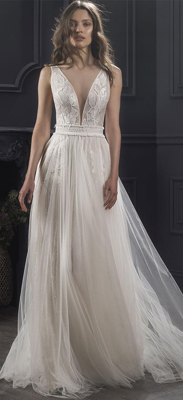 "sleeveless a-line wedding gown - Lihi Hod 2019 Wedding Dresses ""Dreams 2019"" Bridal Collection #weddingdress #weddinggown"