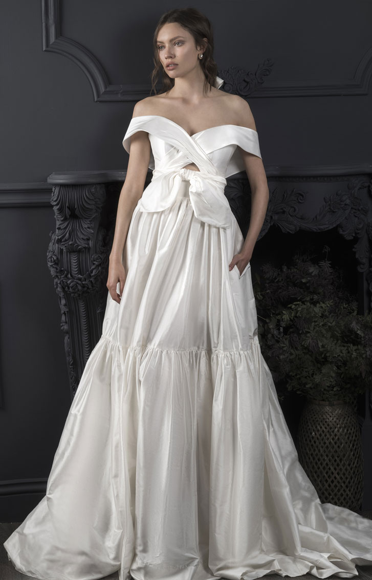 Off the shoulder with oversized bows - Lihi Hod 2019 Wedding Dresses Dreams 2019 Bridal Collection #weddingdress #weddinggown