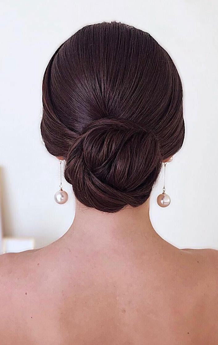 Classic Sleek Low Bun Updo Elegant Wedding Hairstyles