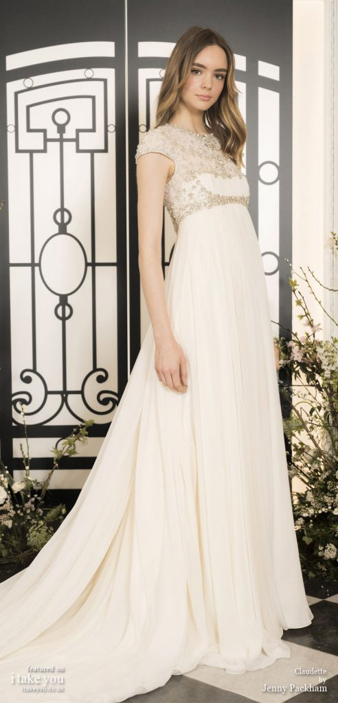Spring 2020 Bridal Collection by Jenny Packham - Pure elegance sleeveless Wedding Dress #weddingdress #weddingdresses #wedding #bridalgown #bridedress