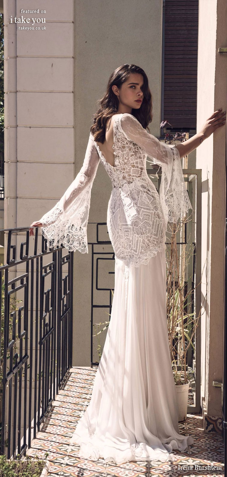 "Irena Burshtein Wedding Dresses ""Moloko Bridal Collection 2020""  A line wedding dress hand embroidery ,pure elegance wedding gown #weddingdress #wedding #bride #bridalgown"