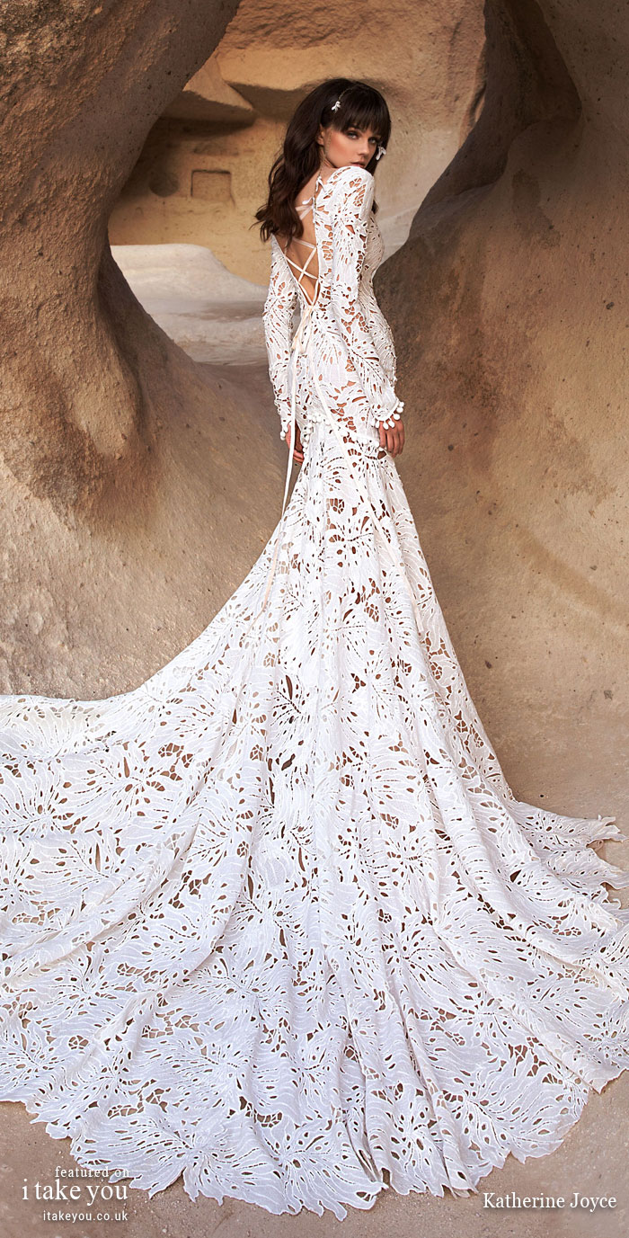 Long sleeve wedding dress - Katherine Joyce Wedding Dresses - The Wind Desert Collection