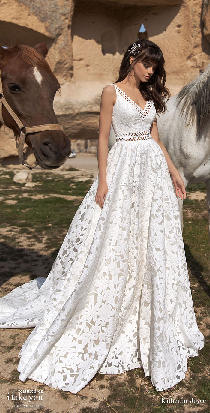 Sleeveless wedding dress - - Katherine Joyce Wedding Dresses - The Wind Desert Collection