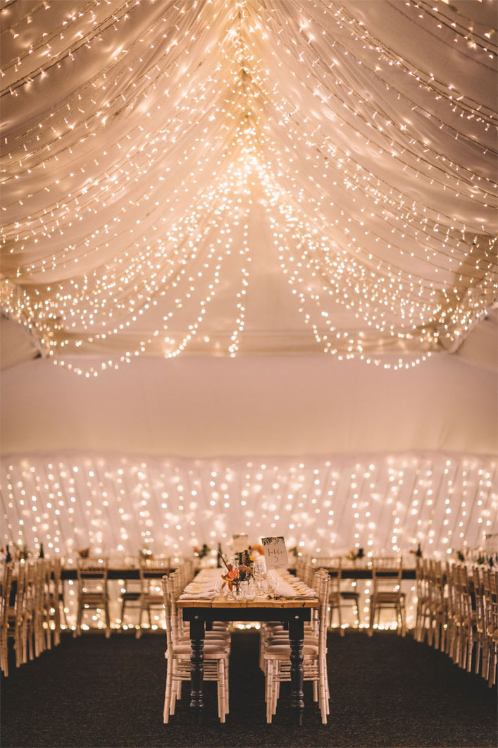 Magical, Rustic and Warm Autumn Wedding - Wedding reception decorations #weddingdecor