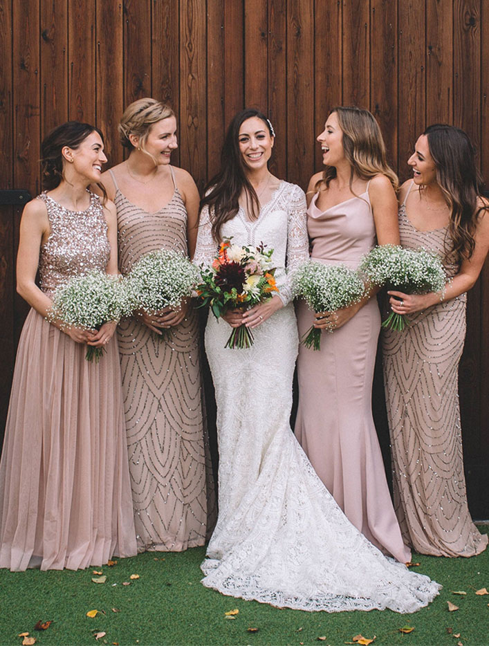 Magical, Rustic and Warm Autumn Wedding - neutral bridesmaid dresses #bridesmaid #neutral