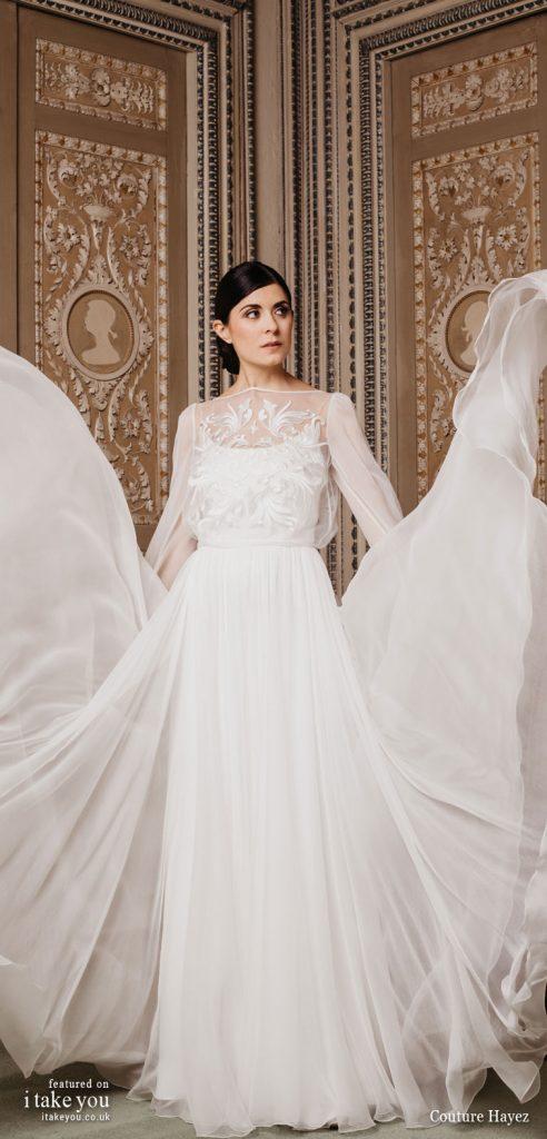 - long sleeve embellished bodice a line wedding dress #weddingdress #weddinggown #wedding #fashion #bridedress #bride #bridal #weddings #weddingdresses