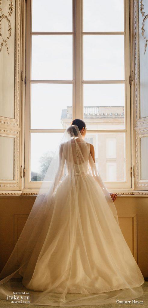 Couture Hayez 2020 bridal collection - sleeveless embellished bodice a line wedding dress #weddingdress #weddinggown #wedding #fashion #bridedress #bride #bridal #weddings #weddingdresses