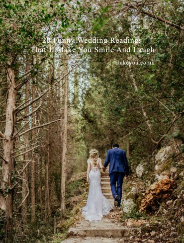 20 Funny Wedding Readings That'll make you smile and laugh - wedding readings #weddingreading #weddingvows #wedding