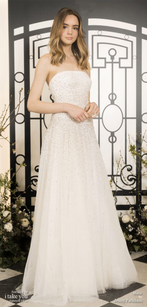 Spring 2020 Bridal Collection by Jenny Packham - Pure elegance sleeveless embellishment bodice a-lineWedding Dress  #weddingdress #weddingdresses #wedding #bridalgown #bridedress