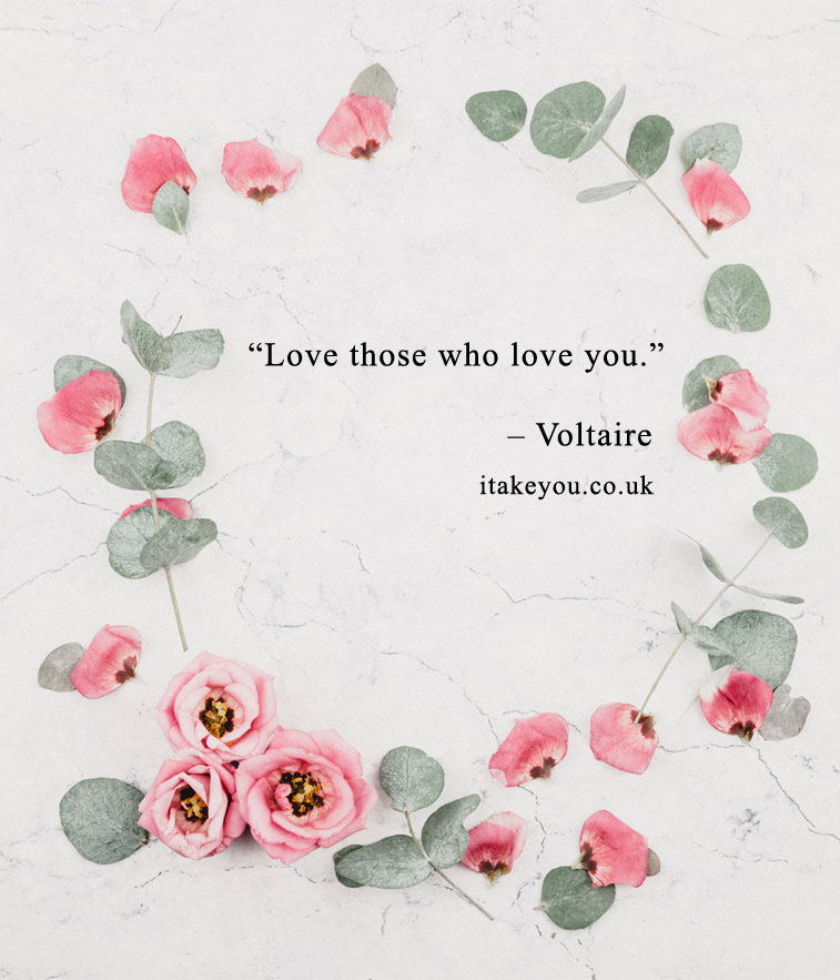 Love those who love you