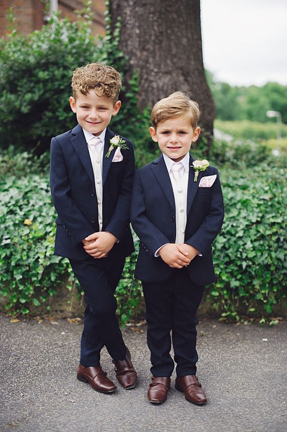 Navy blue Page Boy wear ideas, Page Boy Outfits #wedding #summerwedding