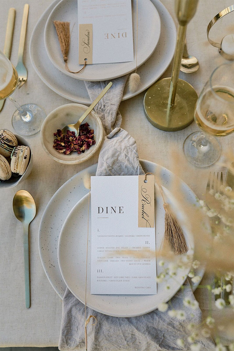 neutral wedding theme, wedding menu, wedding tablescape #wedding #vintagestyle vintage wedding