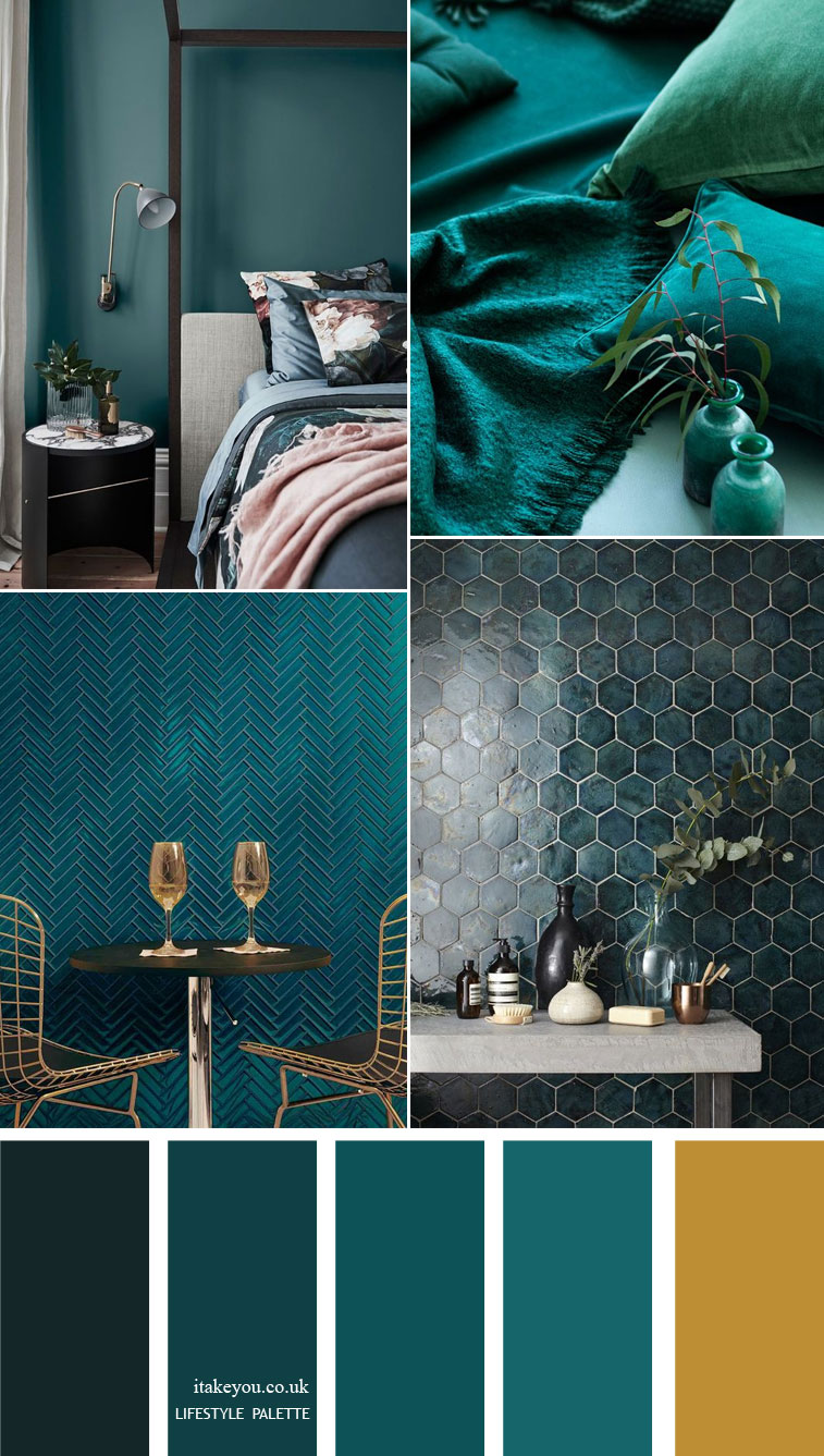 Teal color home decor Idea – Home color palette