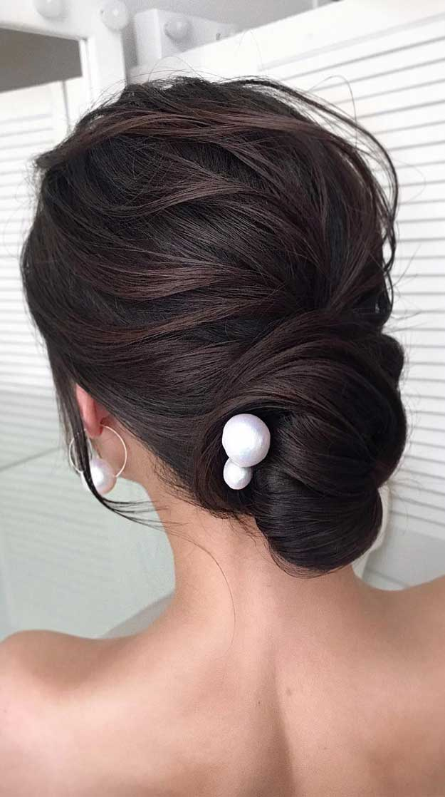 gorgeous wedding updo hairstyles, updos , bridal updo, elegant updo #updos #weddinghairstyles