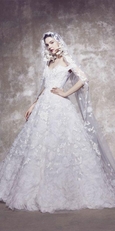 off the shoulder wedding dress, ball gown wedding dress
