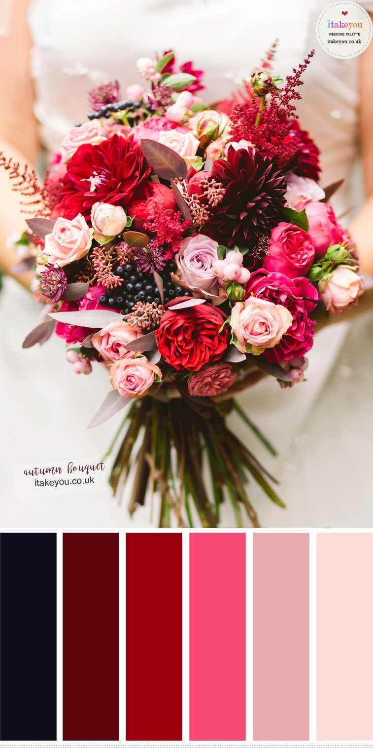 Autumn Wedding Bouquet Colors – Rich Jewel with Soft Romantic Blush