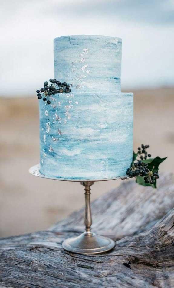 pretty wedding cake, light blue geode wedding cake, wedding cake #weddingcake, wedding cakes, blue wedding cake