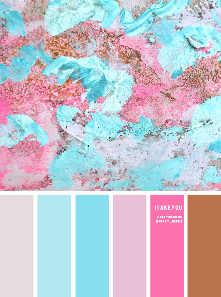 Color Inspiration : Blue and Pink Abstract Painting Inspired