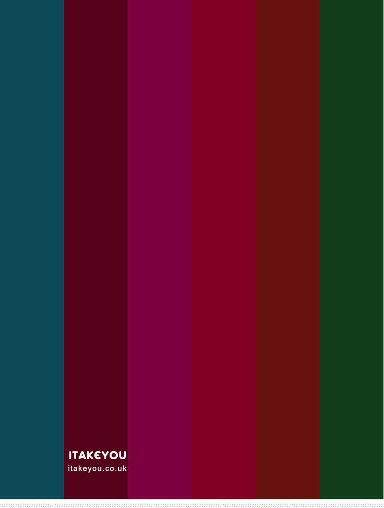 Jewel-toned color palette