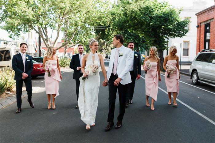 wedding party, bridesmaids , groomsmen