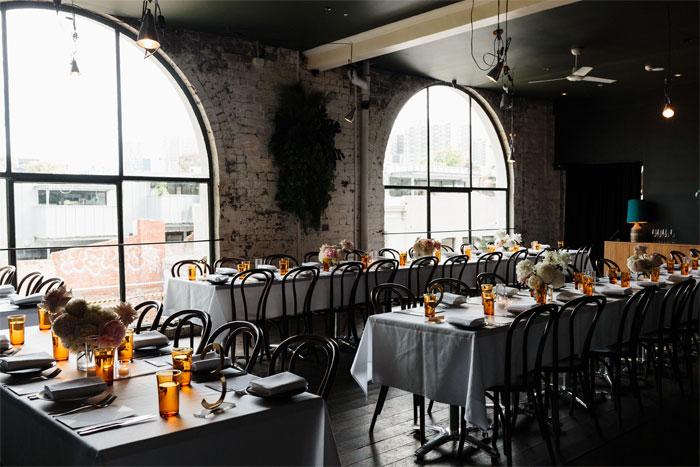 loft styled wedding reception decor