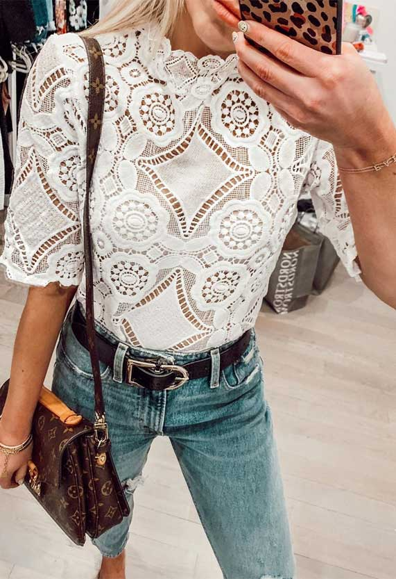 white lace top outfit, beautiful lace tops, spring wardrobe, best spring outfits, what to wear spring 2020
