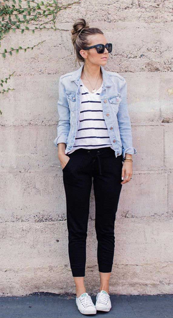 what to wear in spring, best spring outfits , best spring fashion, best spring outfits 2020 #springfashion denim jacket outfis