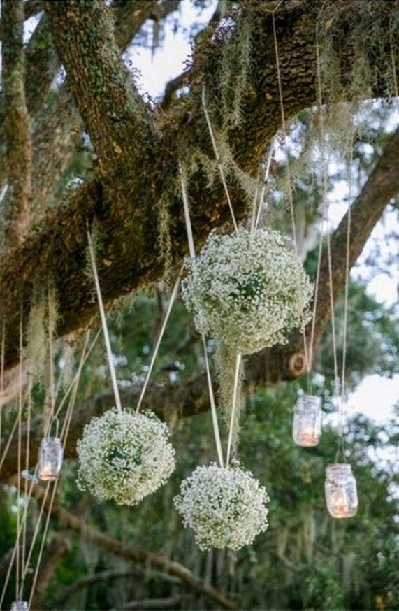 baby's breath wedding decor, wedding decoration, outdoor wedding decoration, spring wedding decoration, summer wedding decoration, spring wedding decors