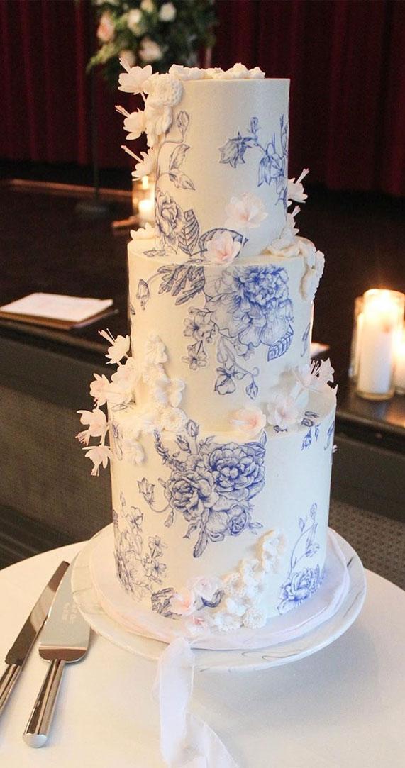 wedding cake, spring wedding cake, wedding cakes, best wedding cakes 2020 #weddingcake textured wedding cakes , wedding cake designs, ombre wedding cake, water color wedding cake, painted wedding cake
