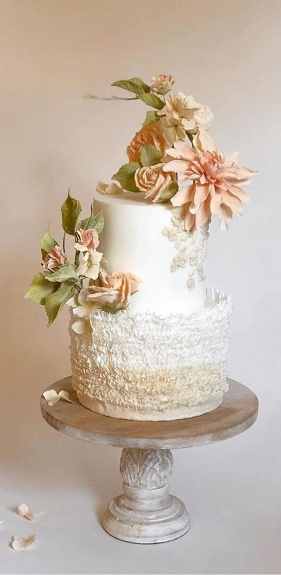 wedding cake, spring wedding cake, wedding cakes, best wedding cakes 2020 #weddingcake textured wedding cakes , wedding cake designs