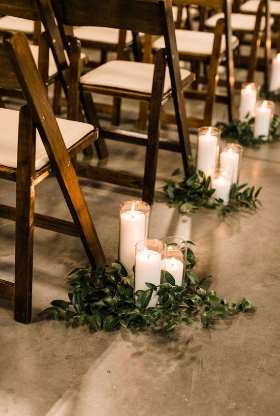 wedding ceremony decor, rustic wedding decor, cozy wedding decor #weddingdecor