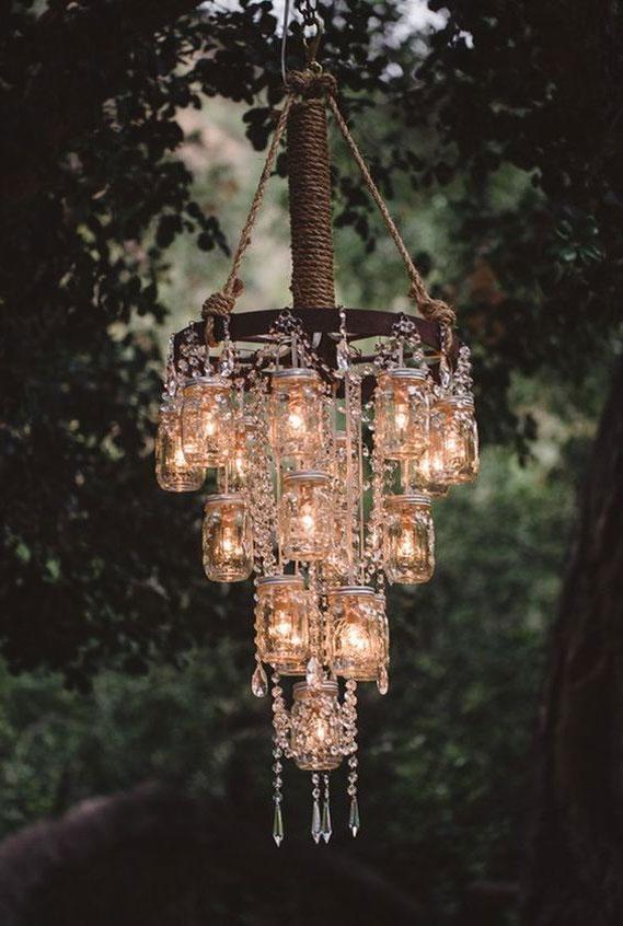 chandelier, wedding decor, rustic wedding #rusticwedding
