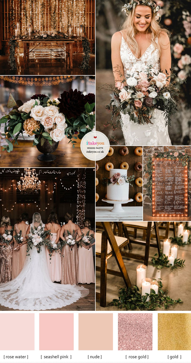 Neutral Colour Palette For Rustic weddings