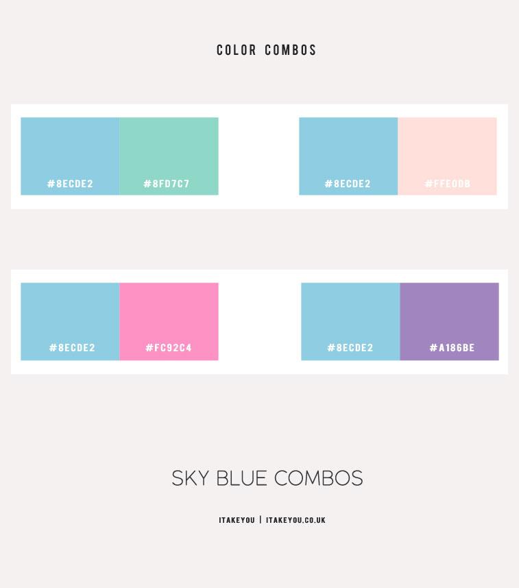 blue sky color, blue sky color combos , blue sky color schemes, blue color combos, blue color schemes, blue green, blue and pink, blue sky color schemes