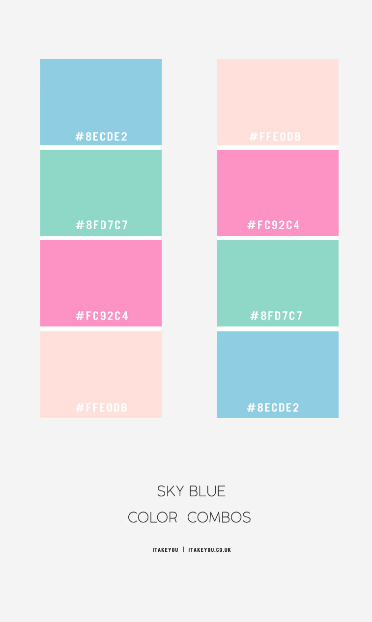 sky blue color, sky blue color combos , sky blue color schemes, blue color combos, blue color schemes, blue green, blue and pink